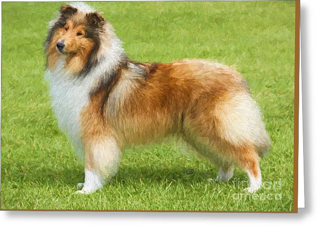 Proud Collie Greeting Card