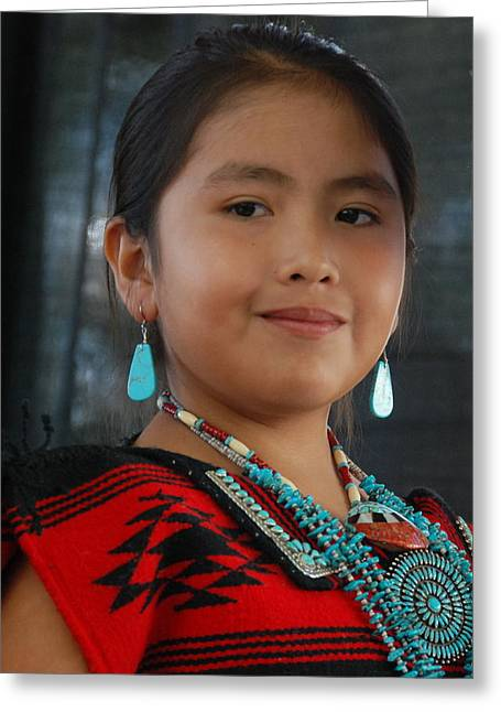 Greeting Card featuring the photograph Proud To Be A Beautiful Native American by Irina ArchAngelSkaya