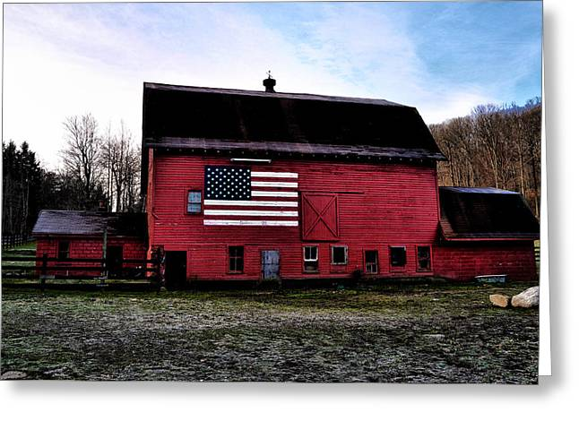 Proud To Be American Greeting Card by Bill Cannon