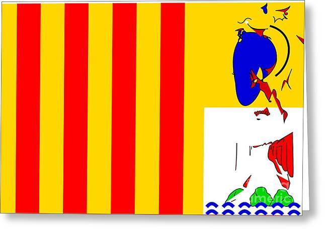 Provence Alpes Cote D' Azur Flag Greeting Card