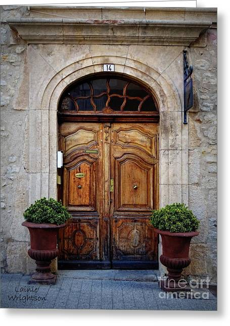Provence Door 14 Greeting Card by Lainie Wrightson