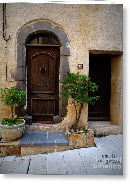 Provence Door 22 Greeting Card