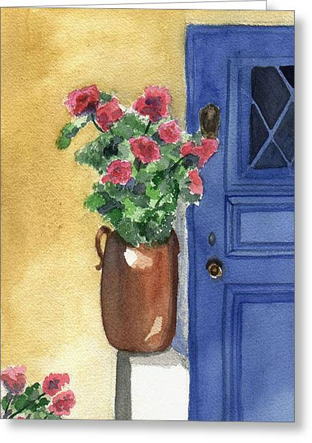 Provence Door Painting By Jane Croteau