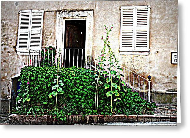 Provence Door Number 12 Greeting Card