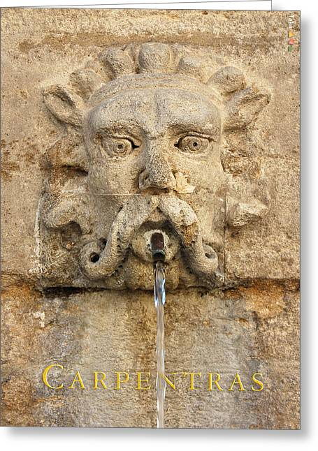 Provence Fountain 2 Carpentras Greeting Card by Philippe Taka