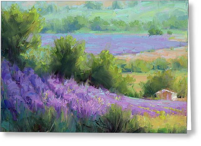 Provence France Lavender Field With Cottage Greeting Card