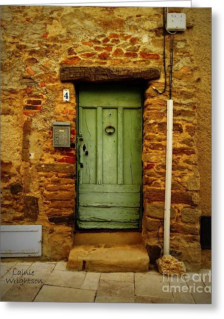 Provence Green Door 4 Greeting Card