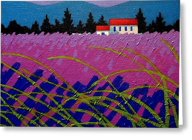 Pines Greeting Cards - Provence Landscape Greeting Card by John  Nolan