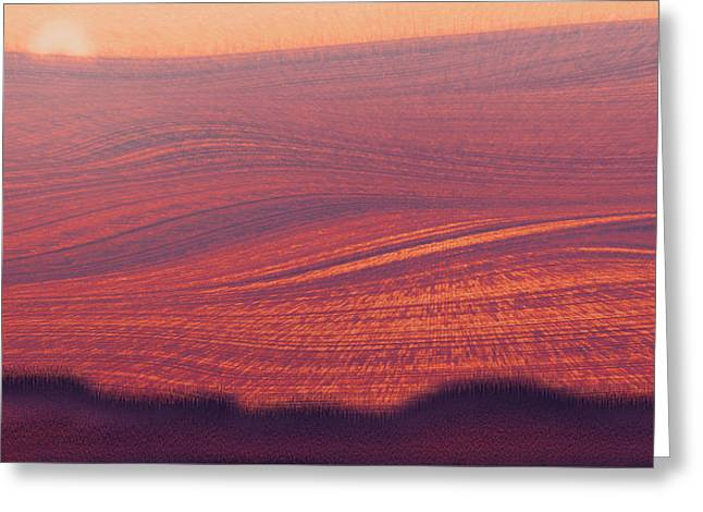 Provence Meadowland Greeting Card by Carles Demiguel
