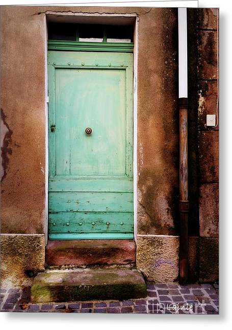 Provence Soft Green Door Greeting Card