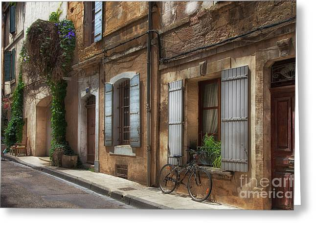 Provence Street Scene Greeting Card