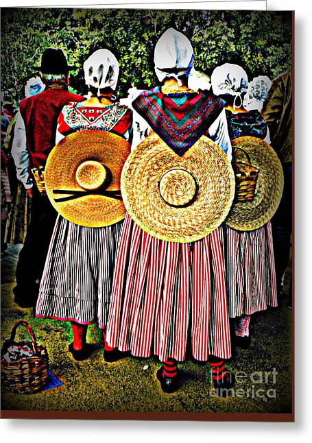 Provence Traditional Costumes Greeting Card