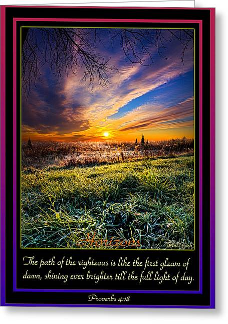 Proverbs Greeting Card by Phil Koch