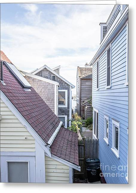 Provincetown Alley Cape Cod Greeting Card by Edward Fielding