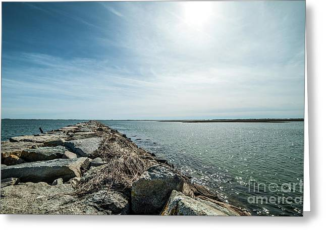Provincetown Breakwater Greeting Card
