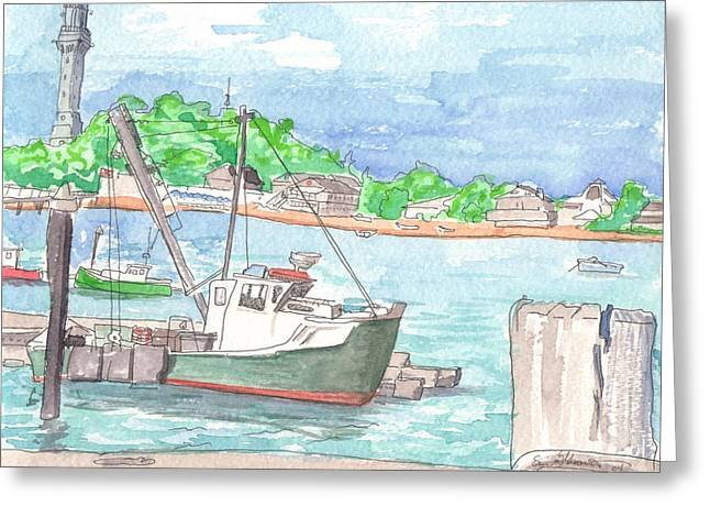 Provincetown Dock Greeting Card by E Gibbons