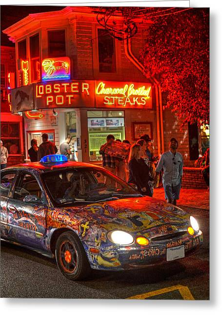 Provincetown Love Taxi Cape Cod Ma Greeting Card