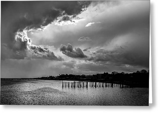 Provincetown Storm Greeting Card by Charles Harden