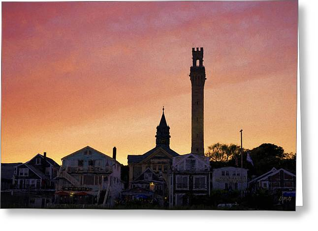 Provincetown Sunset Greeting Card by David Gordon