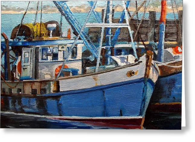 Provinctown Fishing Boats Greeting Card