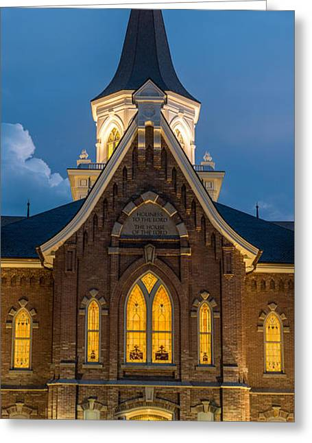 Provo City Center Temple At Night - Utah Greeting Card