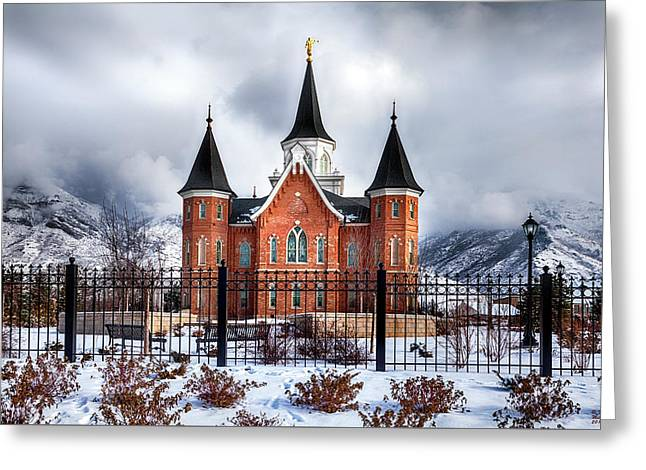 Provo City Center Temple Lds Large Canvas Art, Canvas Print, Large Art, Large Wall Decor, Home Decor Greeting Card by David Millenheft