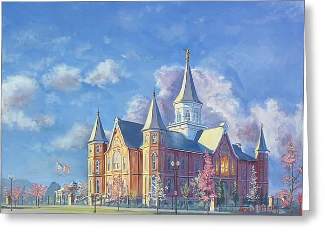 Provo City Center Temple Greeting Card by Jeff Brimley