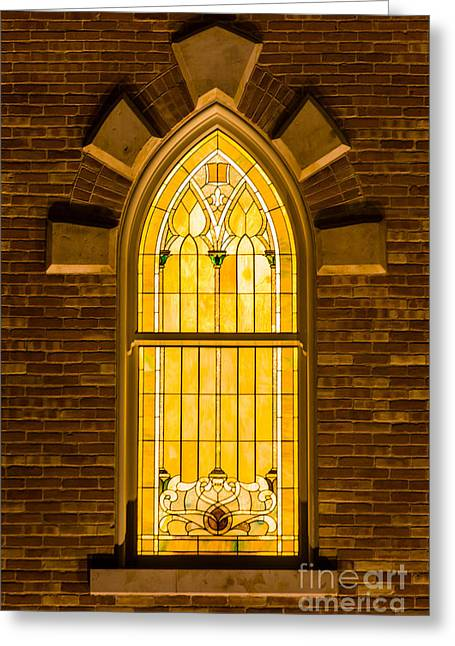 Provo City Center Temple Stainglass Window - Utah Greeting Card by Gary Whitton