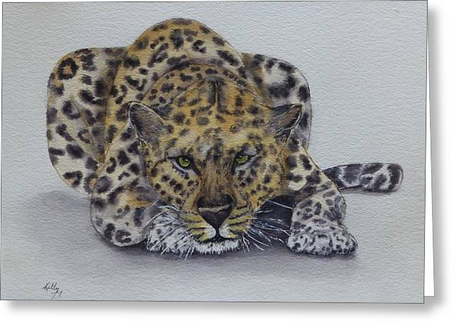 Prowling Leopard Greeting Card