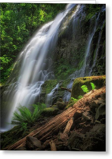 Greeting Card featuring the photograph Proxy Falls by Cat Connor