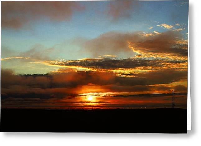 Prudhoe Bay Sunset Greeting Card by Anthony Jones