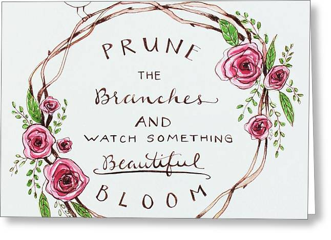 Pruning Greeting Card by Elizabeth Robinette Tyndall