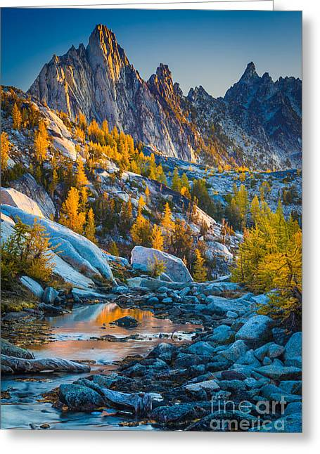 Prusik Peak And Tamaracks Greeting Card