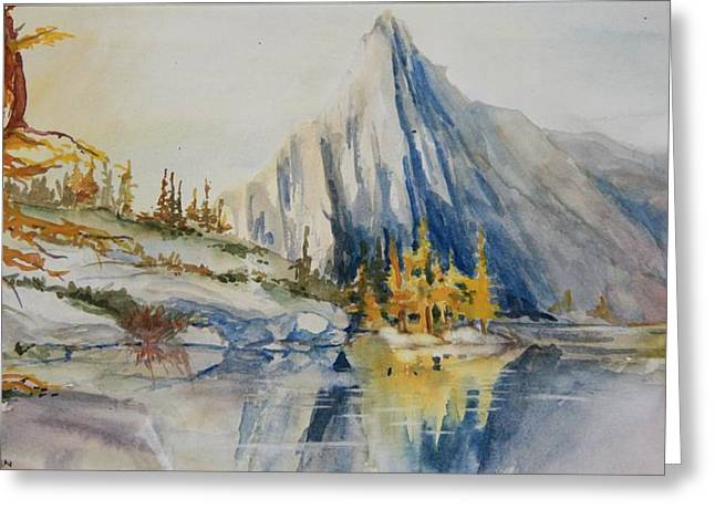 Prusik Peak Fall Morning Greeting Card by Sukey Watson