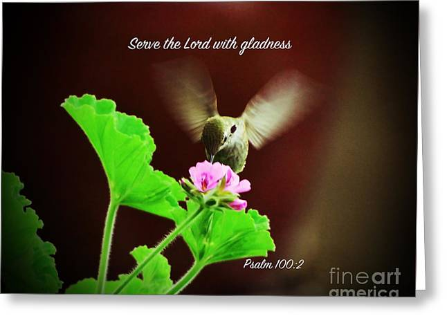Psalm 100 V 2 Greeting Card by Debby Pueschel