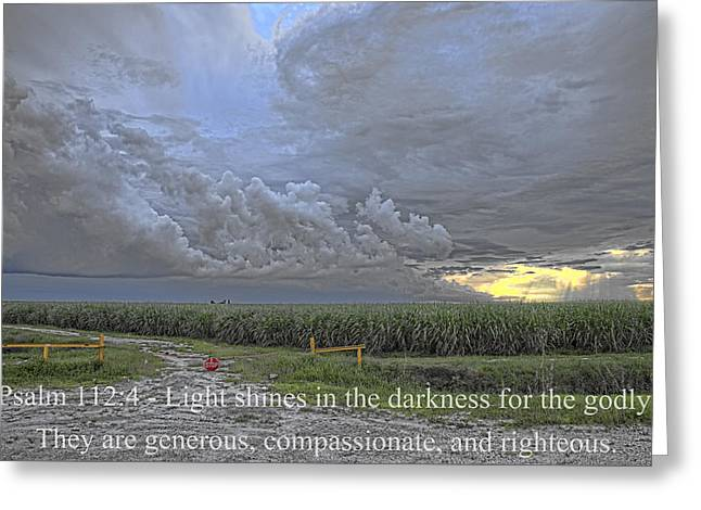 Psalm 112 4  Greeting Card by Roberto Aloi