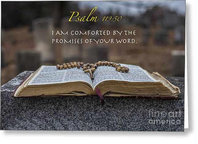 Psalm 119 50 Greeting Card by Jason  Griffith