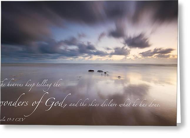 Psalm 19 1 Greeting Card