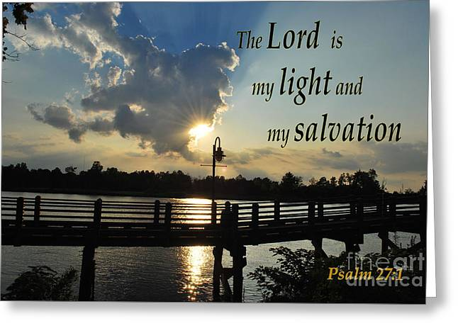 Psalm 27 Greeting Card by Bob Sample