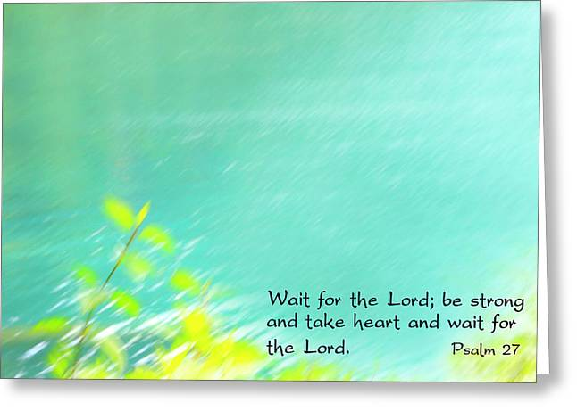 Psalm 27 Greeting Card