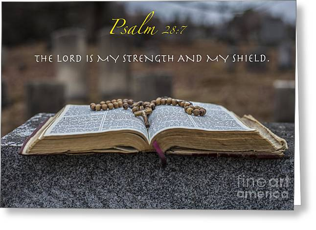 Psalm 28 7 Greeting Card by Jason  Griffith