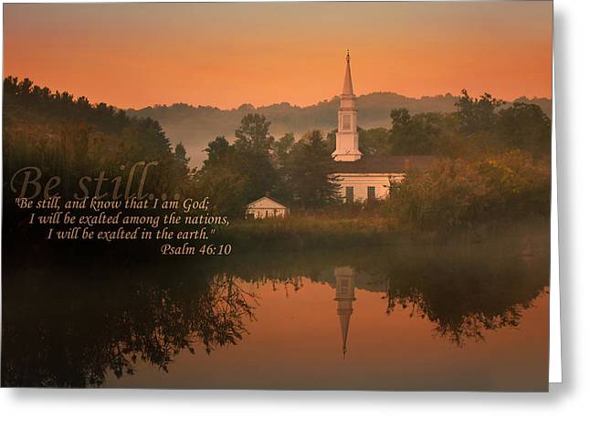 Psalm 46.10 Greeting Card by Rob Blair