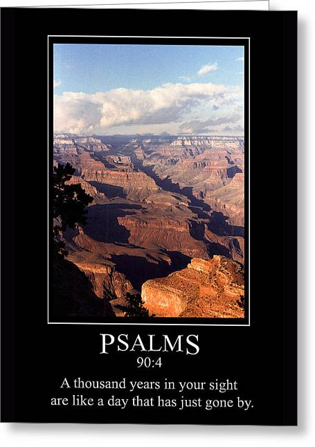 Psalm 90 And The Grand Canyon Greeting Card