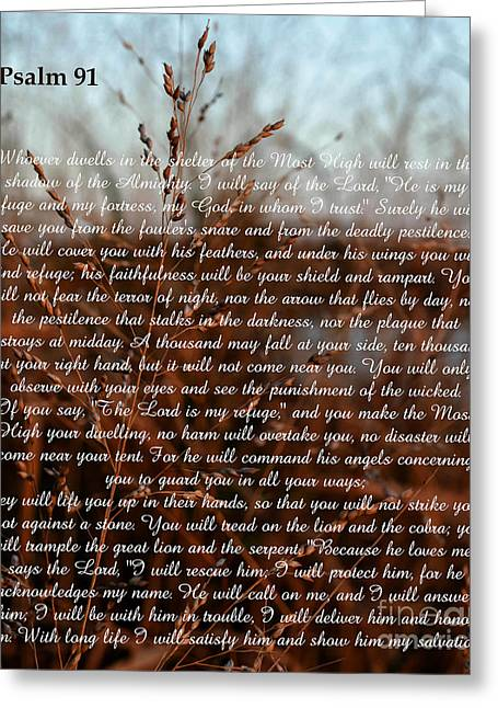 Psalm 91 Greeting Card
