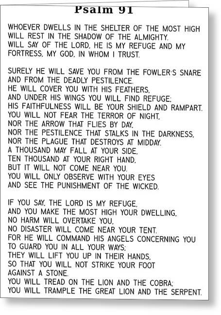 Psalm 91 #minimalism Greeting Card