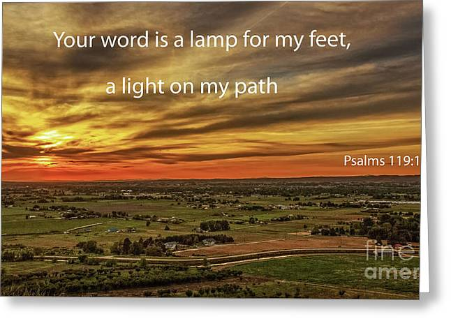 Psalms 119 Greeting Card by Robert Bales
