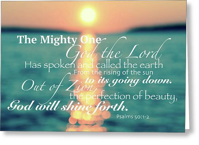 Psalms 50 Greeting Card by Lauren Medina