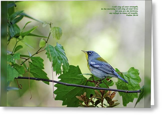 Psalm 59 16 Greeting Card