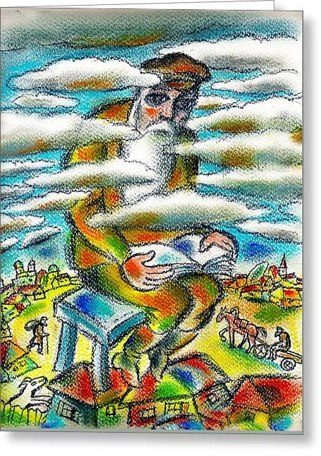 Psalms, The Ladder Of Jacob Greeting Card by Leon Zernitsky