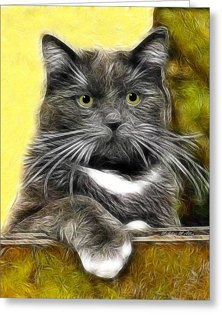 Pssst ... Where's The Treats Greeting Card by Madeline  Allen - SmudgeArt
